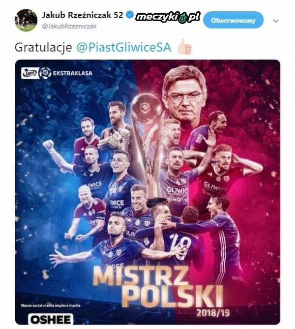 Rzeźniczak pogratulował Piastowi