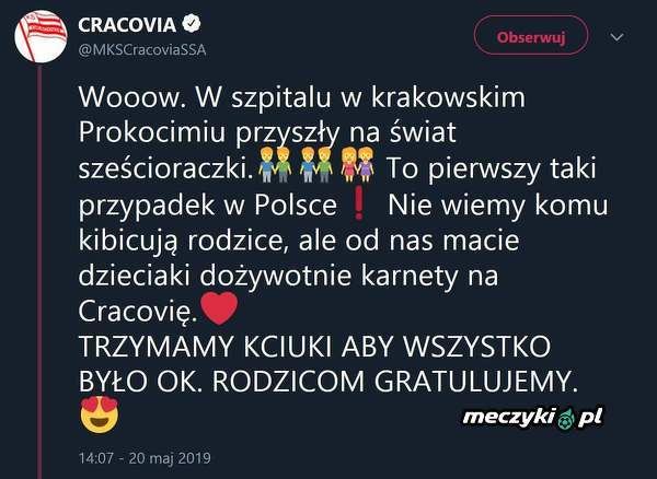 Piękny gest Cracovii