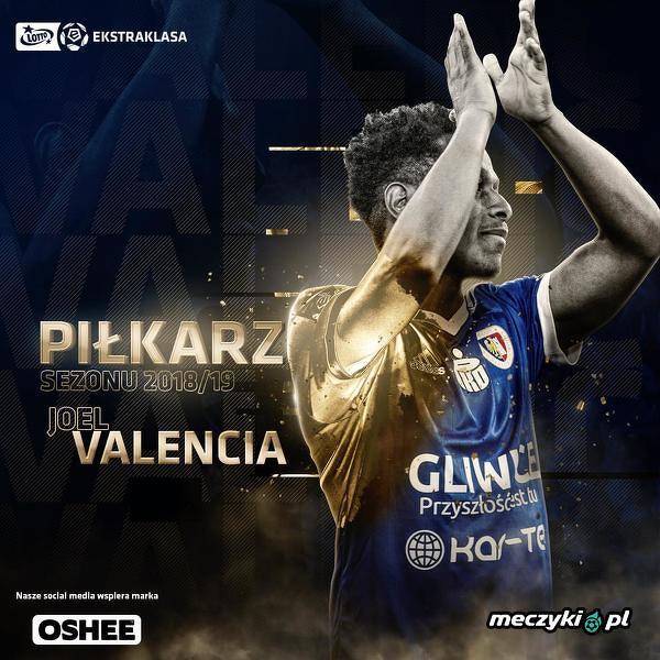 Joel Valencia piłkarzem sezonu Ekstraklasy