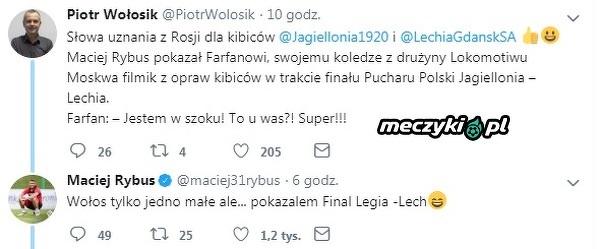Jefferson Farfan pod wrażeniem oprawy w finale Pucharu Polski