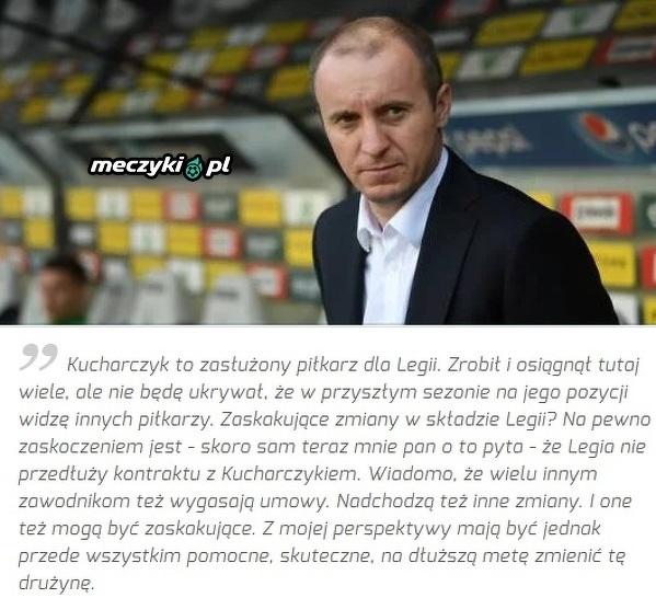 Vuković potwierdza odejście Kucharczyka