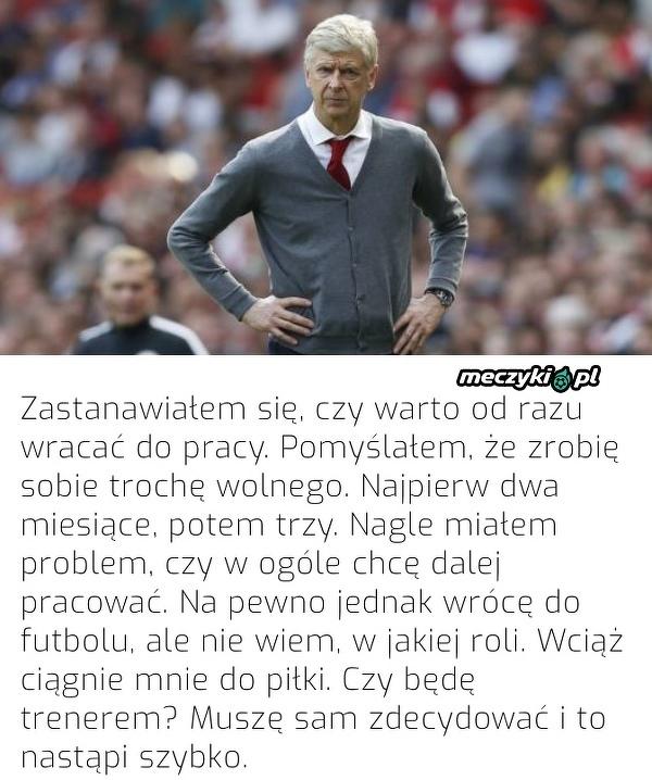 Wenger niedługo podejmie dezycję o powrocie