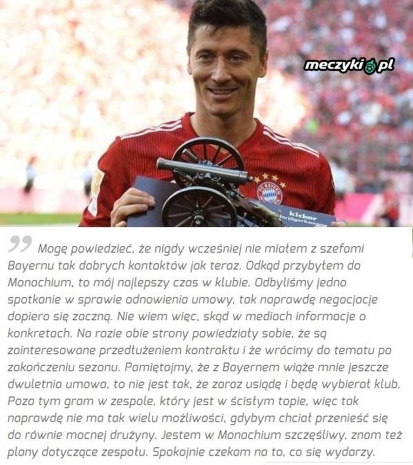 Lewandowski czeka na nowy kontrakt w Bayernie