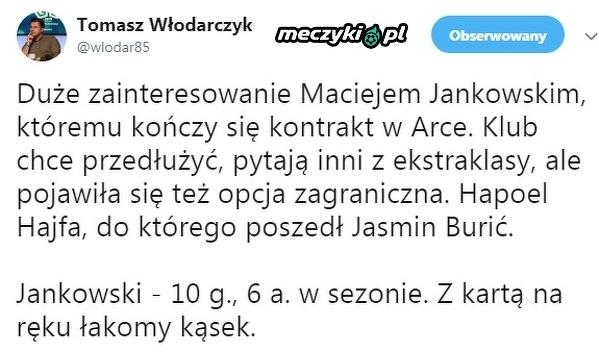 Jankowski odejdzie z Arki?