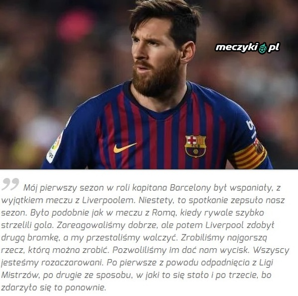 Messi wrócił do meczu z Liverpoolem