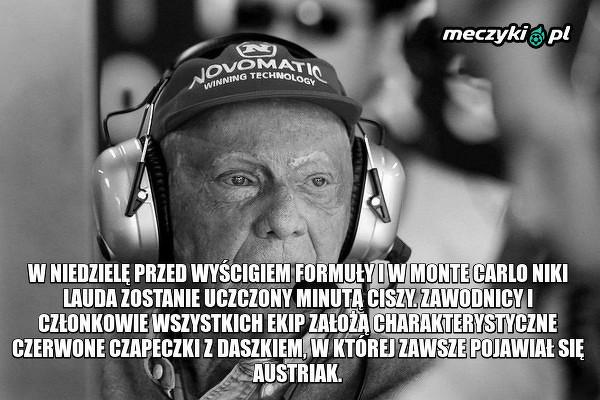 Przed jutrzejszym GP zostanie uczczona pamięć Nikiego Laudy