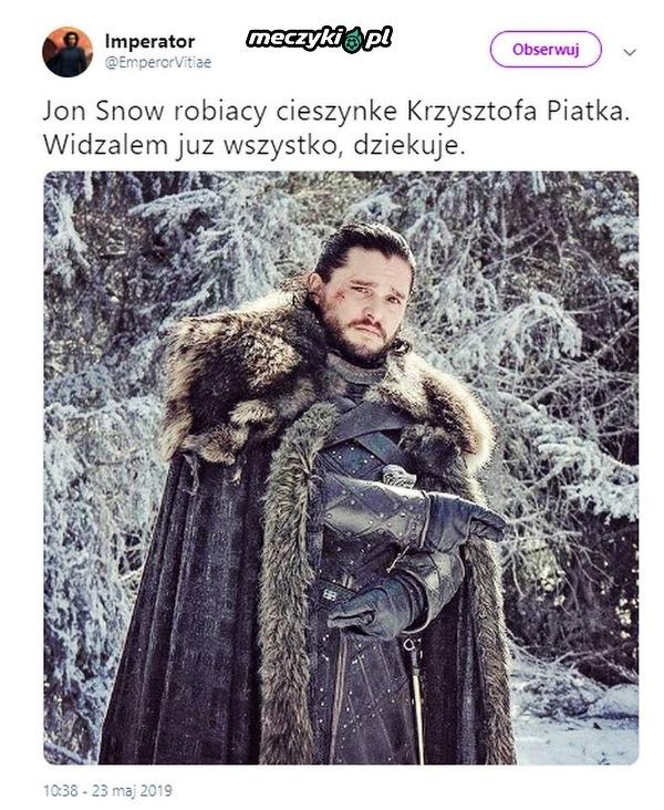 Jon Snow i cieszynka Piątka