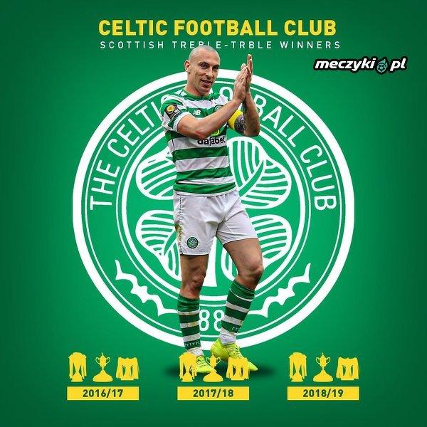 Celtic 3. raz z rzędu zgarnął wszystkie krajowe puchary
