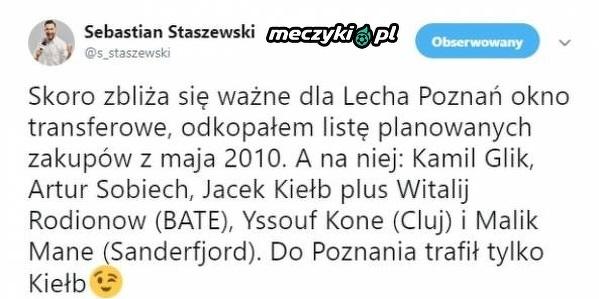 Lech i plany transferowe z 2010 roku