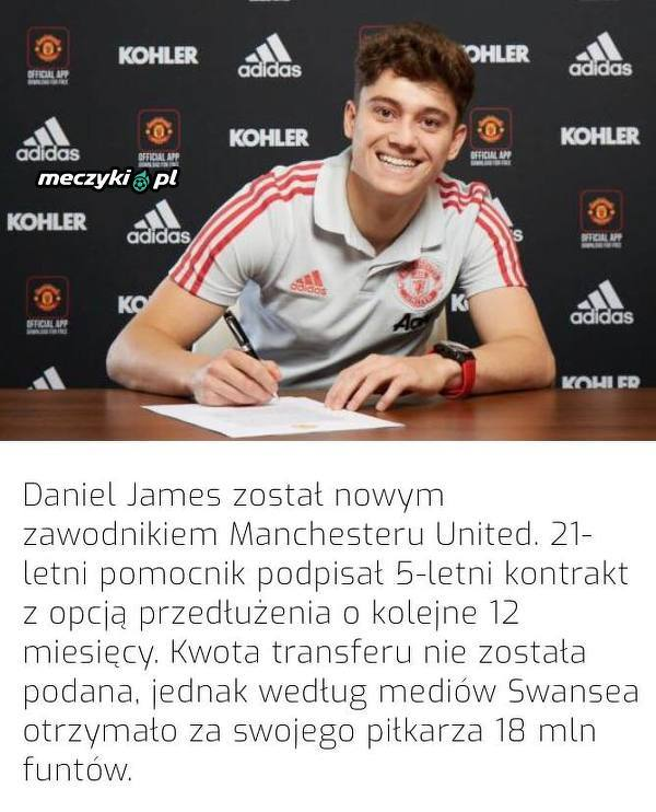 Oficjalnie: Daniel James w United!