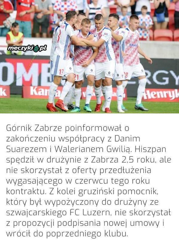 Dwóch piłkarzy opuszcza Górnika Zabrze