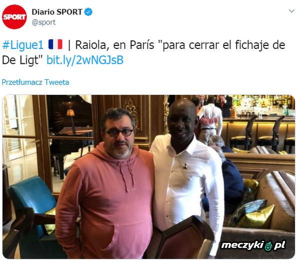 Raiola w Paryżu finalizuje transfer de Ligta