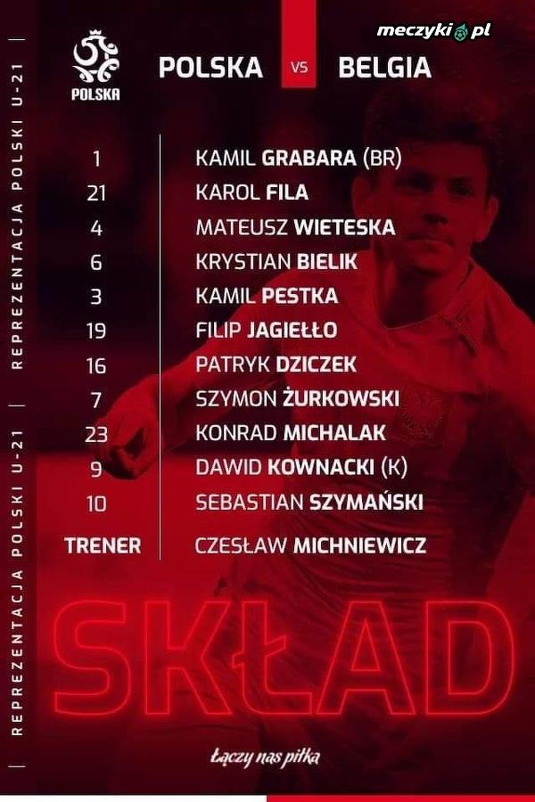 """Skład """"Biało-Czerwonych"""" na mecz z Belgią"""