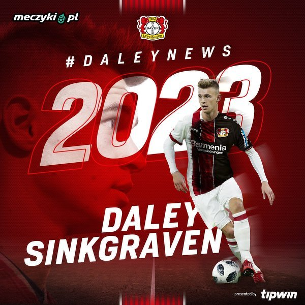 Daley Sinkgraven piłkarzem Bayeru Leverkusen