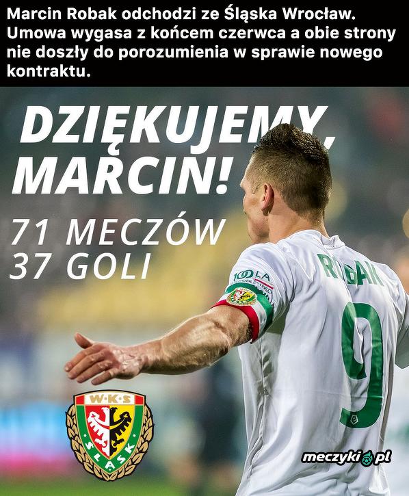 Marcin Robak odchodzi ze Śląska Wrocław