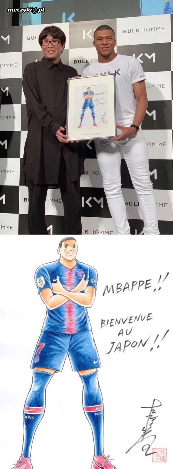 Kylian Mbappe dostał prezent od twórcy Tsubasy - Yōichi Takahashiego