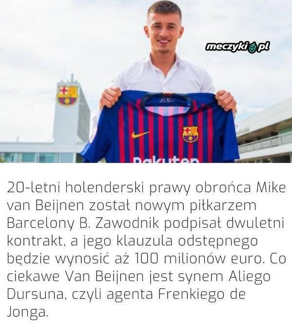 Syn agenta De Jonga zagra w Barcelonie B