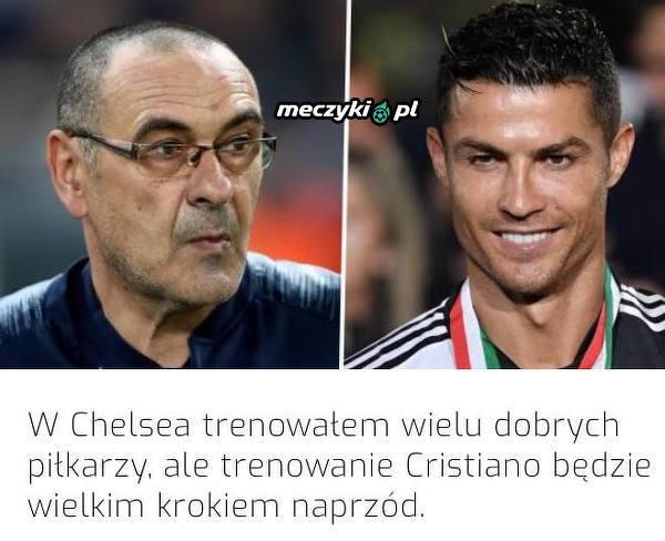 Sarri o możliwości trenowania Ronaldo