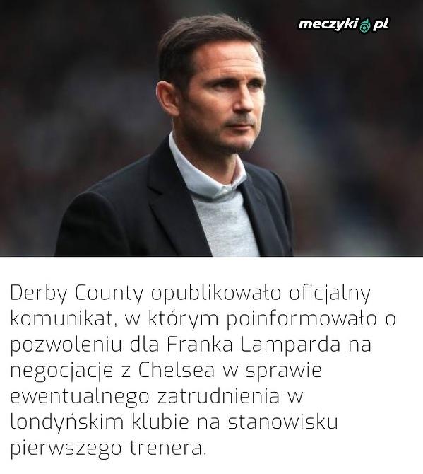 Lampard dostał pozwolenie na rozmowę z Chelsea