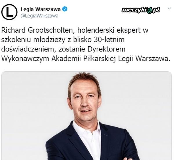 Holender Richard Grootscholten dyrektorem wykonawczym Akademii Legii Warszawa