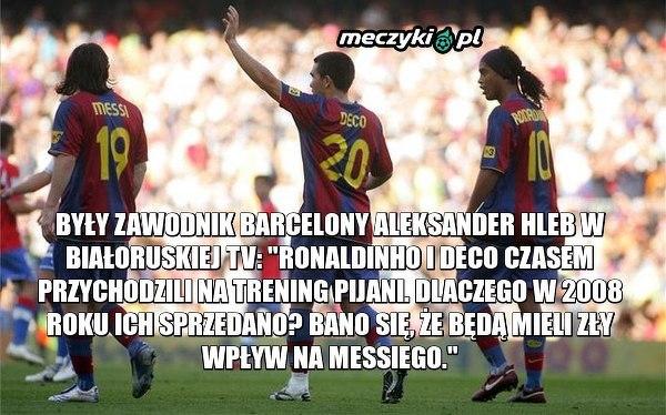 Były zawodnik Barcy o Deco i Ronaldinho