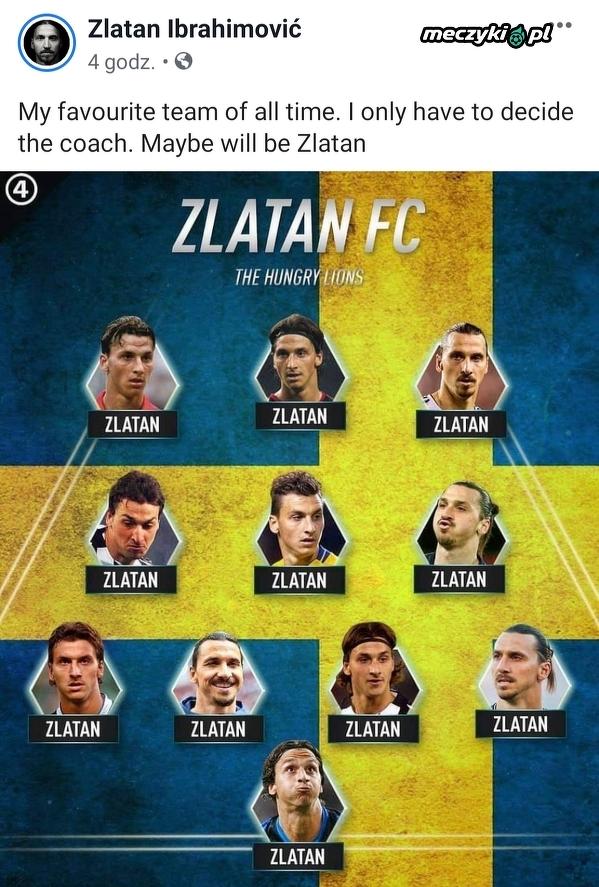 Najlepsza jedenastka w historii według Zlatana