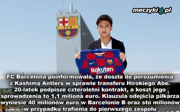 Hiroki Abe piłkarzem Barcelony