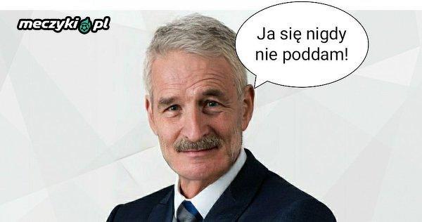 Wiceprezes Lecha Piotr Rutkowski nigdy się nie podda