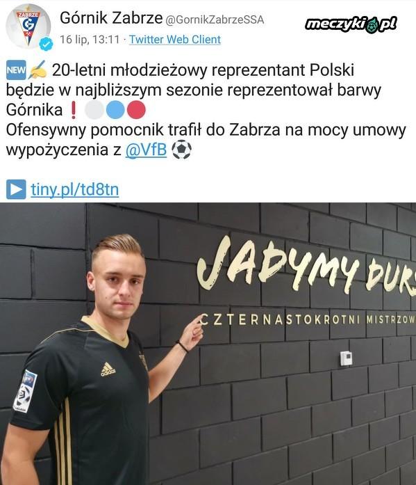 Dawid Kopacz wypożyczony z VfB Stuttgart do Górnika Zabrze