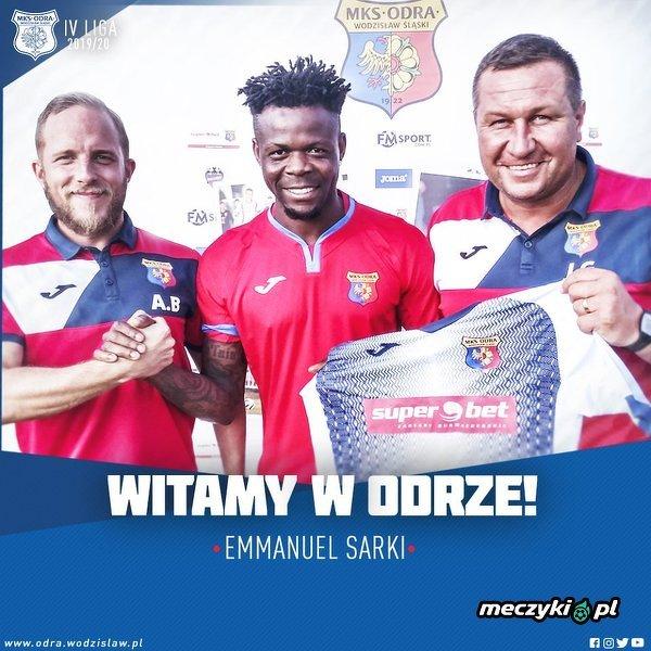 Były piłkarz Wisły Kraków Emmanuel Sarki wylądował w Odrze Wodzisław