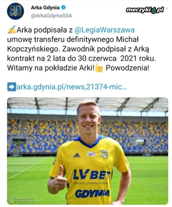 Michał Kopczyński zawodnikiem Arki Gdynia