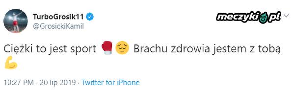 Grosik wspiera Szpilkę w trudnych chwilach