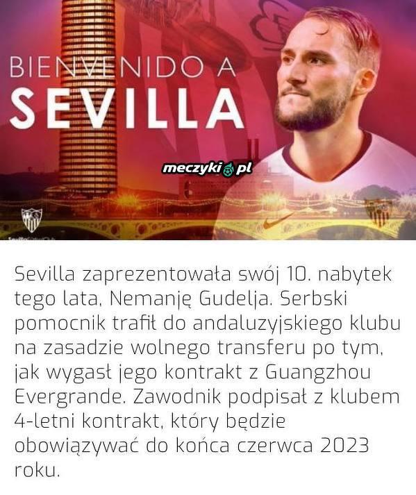 Nowy nabytek Sevilli