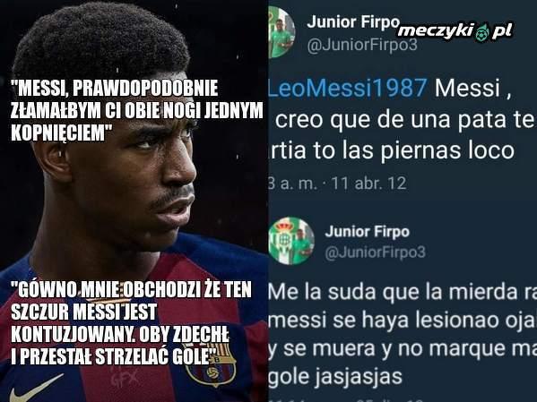 Nowy nabytek Barcelony obrażał Messiego na Twitterze