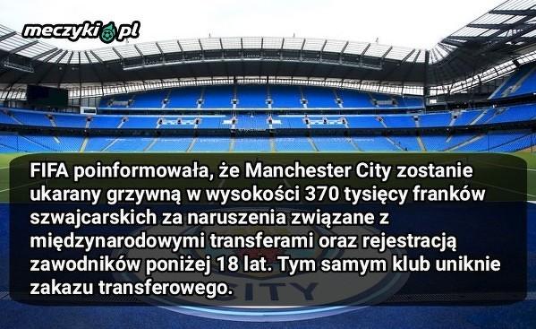 Manchester City nie zostanie ukarany