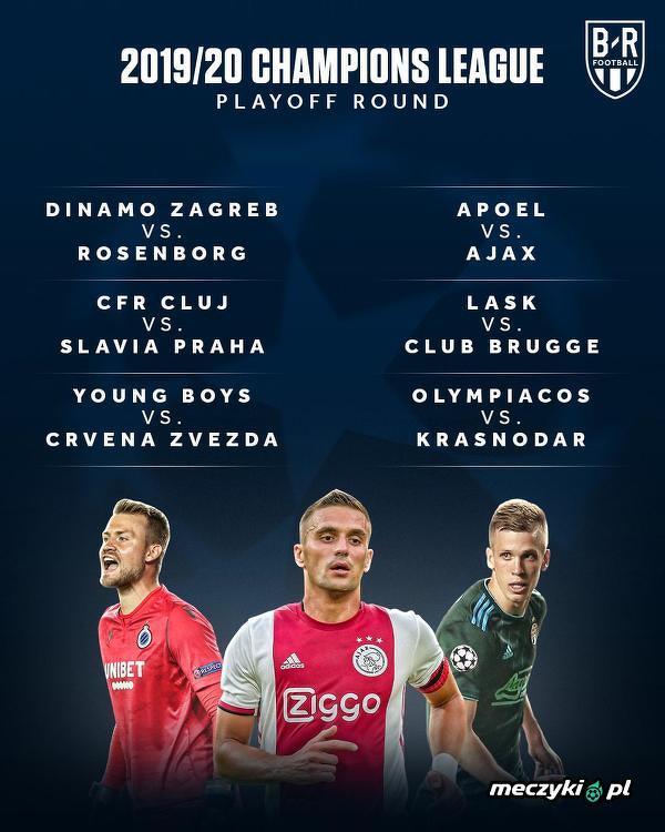 Pary ostatniej rundy eliminacyjnej do Ligi Mistrzów