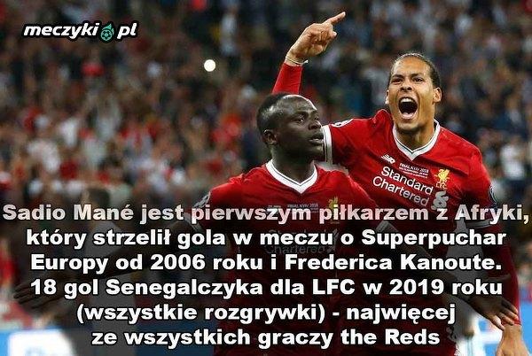 Sadio Mane najlepszy spośród piłkarzy Liverpoolu