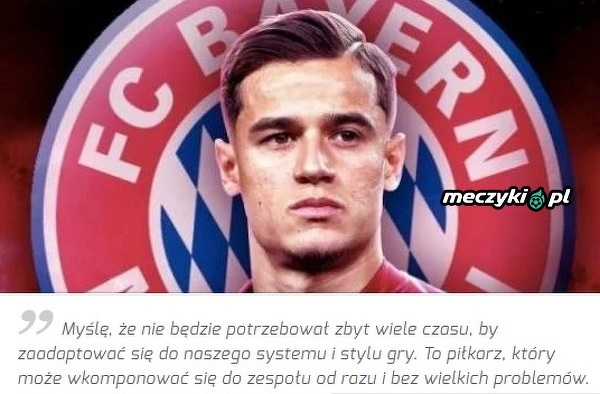 """""""Lewy"""" skomentował wypożyczenie przez Bayern Coutinho"""