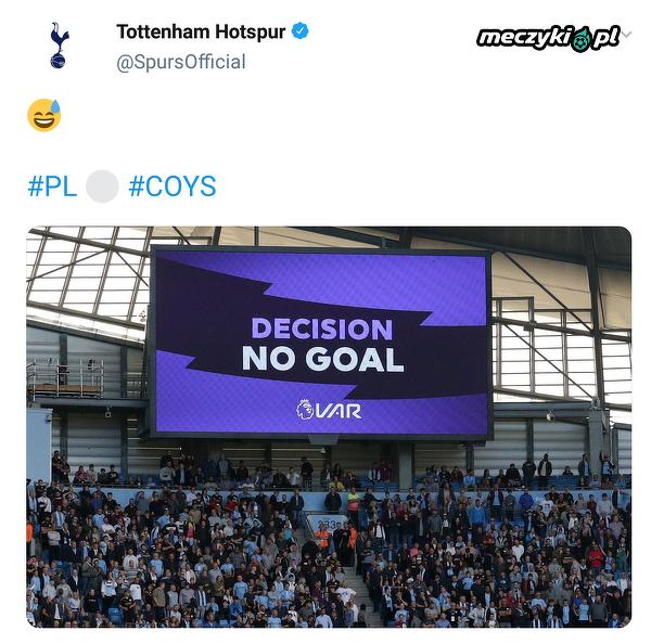 Reakcja profilu Tottenhamu na nieznany gol Manchesteru City