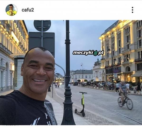 Cafu wpadł zwiedzić Warszawę