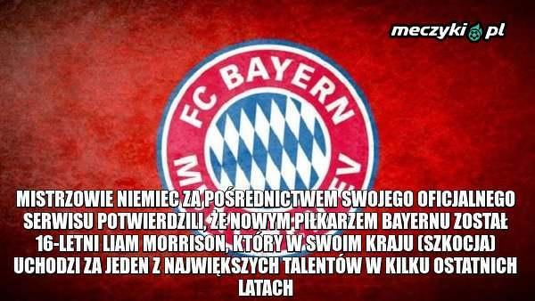16-letni Morrison nowym piłkarzem Bayernu