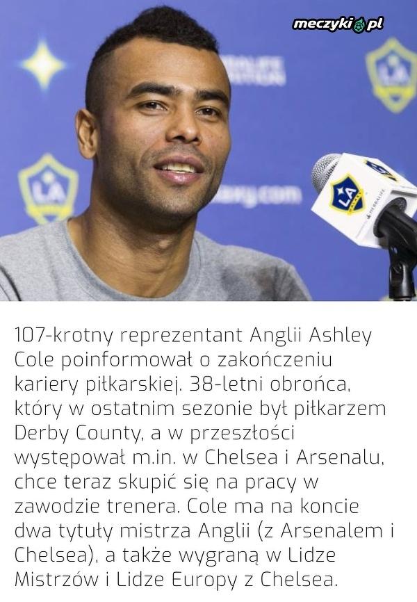 Ashley Cole zakończył piłkarską karierę