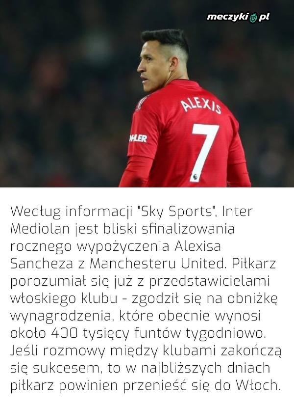 Alexis Sanchez blisko powrotu do Serie A