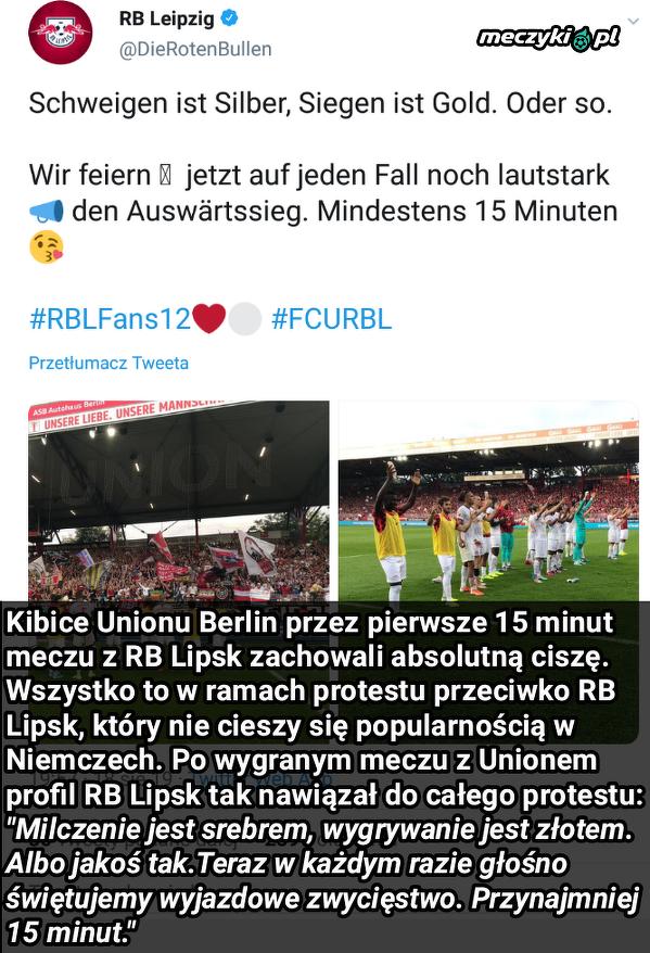 Twitterowy profil RB Lipsk po meczu z Unionem Berlin