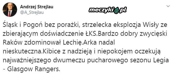 Andrzej Strejlau podsumował ostatnie mecze Ekstraklasy
