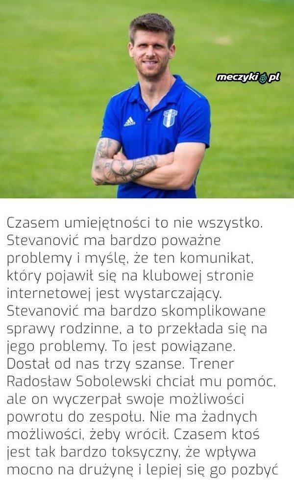 Wisła Płock rozwiązała kontrakt z Alenem Stevanoviciem