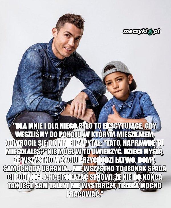 Ronaldo pokazał synowi mieszkanie, w którym kiedyś mieszkał