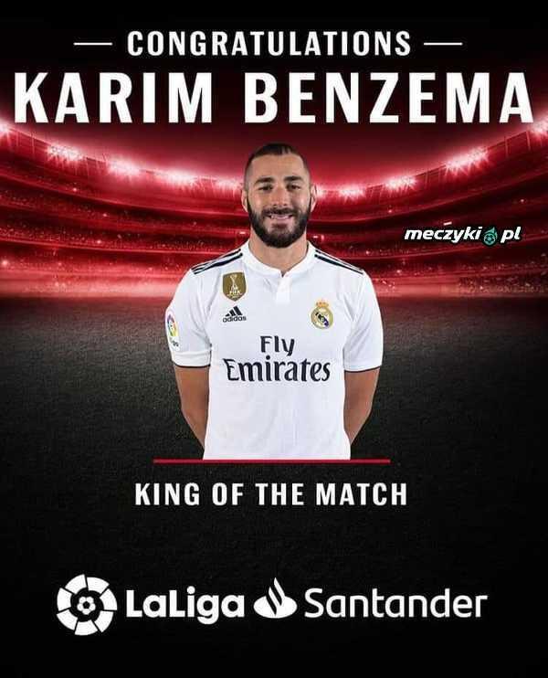 Karim Benzema został wybrany zawodnikiem meczu Real-Celta