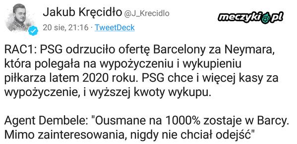 PSG odrzuciło ofertę Barcelony