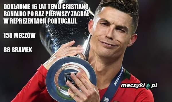Dokładnie 16 lat temu Cristiano Ronaldo zadebiutował w reprezentacji Portugalii